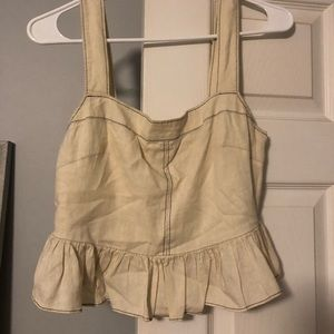 Urban Outfitters Beige Tank Top